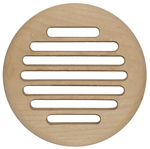 "Slotted Grill for 4"" Round Opening - Wood"