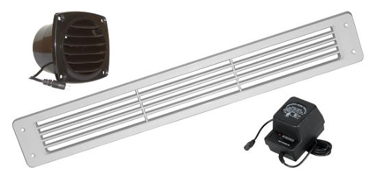 Cabinet Toe Kick Vent System for Cooling and Venting Cabinets