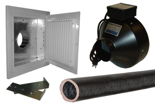 Exhaust Fan System : Cool components remote system cooler