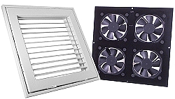 Ceiling Vent System - Grill Assembly & Fan Unit