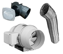 Inline Duct Fan - Enclosure Vent System